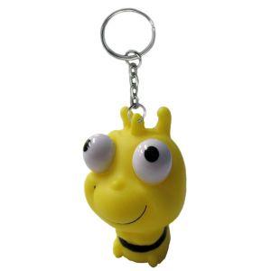 Eye Pop Squeeze Bumblebee Keychain
