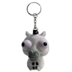 Eye Pop Squeeze Zebra Keychain