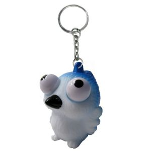 Eye Pop Squeeze Blue Jay Keychain