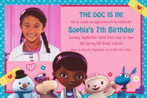 Custom Doc McStuffins Photo Invitations