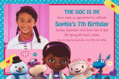 Doc McStuffins Custom Photo Invitation