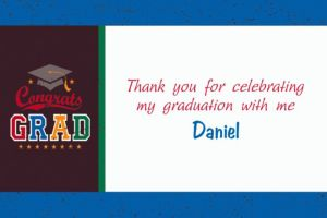 Custom Made The Grade Graduation Thank You Notes