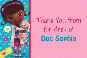 Custom Doc McStuffins Thank You Notes
