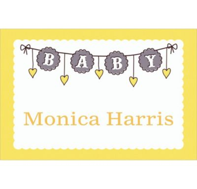Custom Baby Clothesline Neutral Thank You Notes