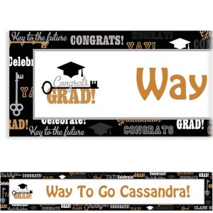 Custom Key To Success Graduation Banner 6ft