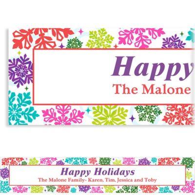 Bright Holiday Custom Christmas Banner