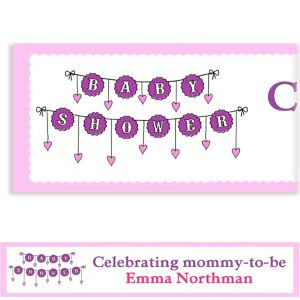 Custom Baby Clothesline Girl Baby Shower Banner 6ft