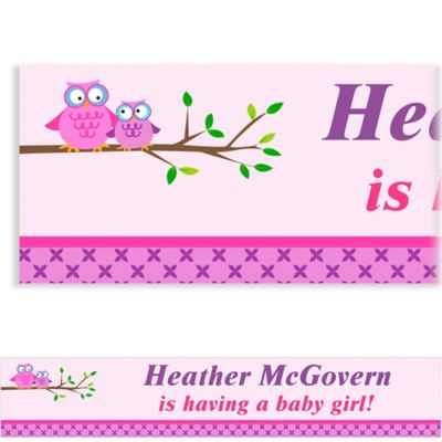Owls on a Branch Custom Baby Shower Banner