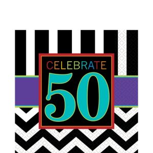 Celebrate 50th Birthday Lunch Napkins 16ct