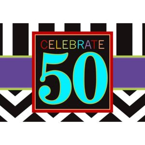 Celebrate 50th Birthday Invitations 8ct