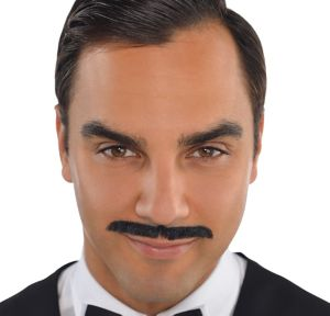 Roaring '20s Black Pencil Moustache