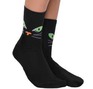 Cat Eyes Crew Socks