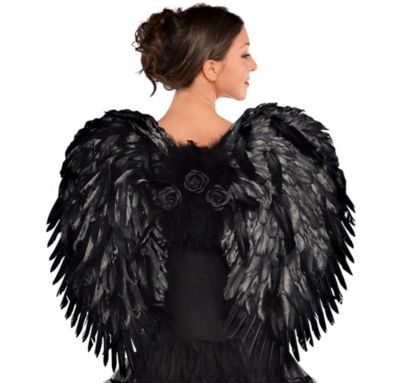 Deluxe Feather Dark Angel Wings