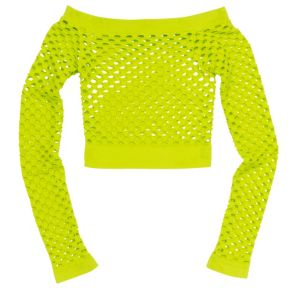 Neon Green Fishnet Top