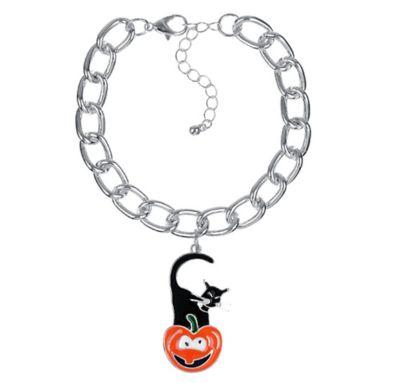 Pumpkin Kitty Chain Bracelet