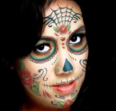 Sugar Skull Face Tattoo Kit - Day of the Dead