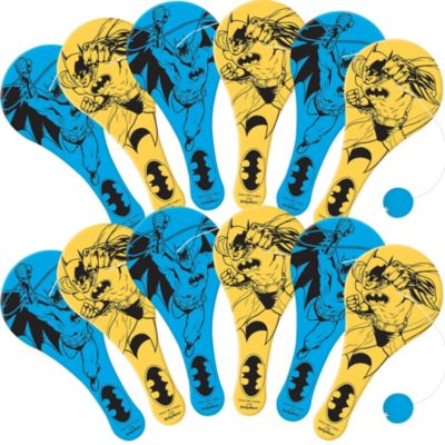 Batman Paddle Balls 12ct