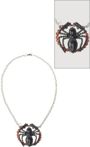 Beaded Spider-Girl Necklace