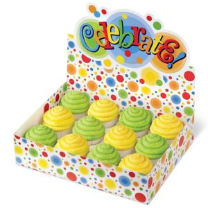 Multicolor Dot Cupcake Box