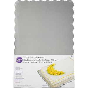 Silver Cake Boards 4ct
