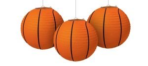 Basketball Paper Lanterns 3ct
