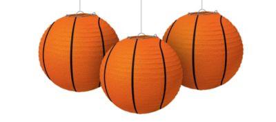 Basketball Paper Lanterns 3ct
