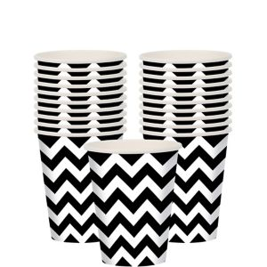 Black Chevron Cups 18ct