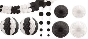 Black & White Decorating Kit 9pc