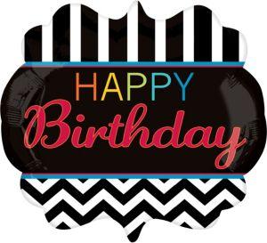 Happy Birthday Balloon - Giant Chevron