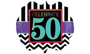 50th Birthday Balloon - Giant Chevron