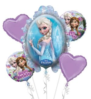 Heart Frozen Balloon Bouquet 5pc
