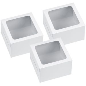 White Individual Cupcake Boxes 3ct