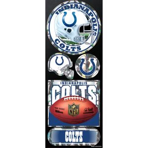 Prismatic Indianapolis Colts Stickers 5ct