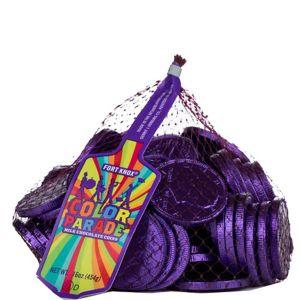 Purple Chocolate Coins 72pc