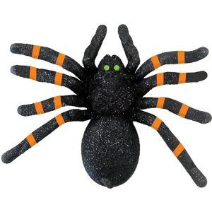 Glitter Green-Eyed Black Spider