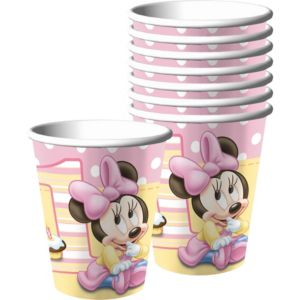 1st Birthday Minnie Mouse Cups 8ct