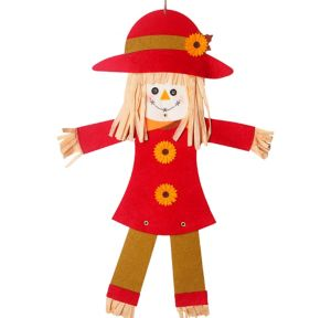 Jointed Felt Scarecrow Girl