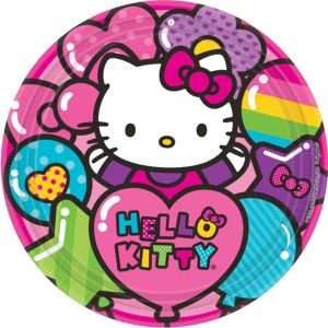 Rainbow Hello Kitty Lunch Plates 8ct