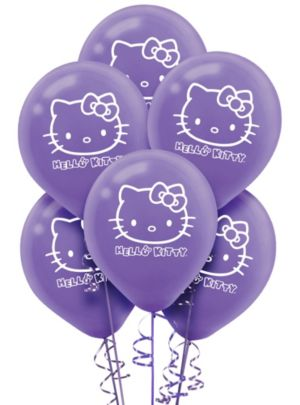 Rainbow Hello Kitty Balloons 6ct