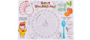 Thanksgiving Activity Placemats 24ct