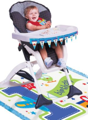 All Aboard 1st Birthday High Chair Decorating Kit
