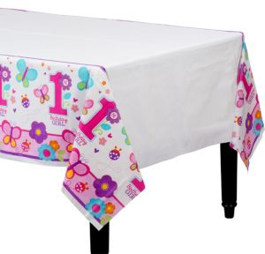 Sweet Girl 1st Birthday Table Cover
