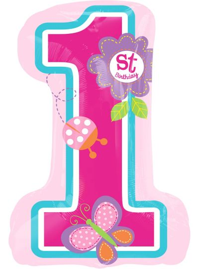 Giant Sweet Girl 1st Birthday Balloon 19in X 28in Party City