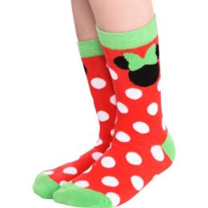 Child Holiday Minnie Mouse Crew Socks