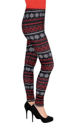 Fair Isle Snowflake Leggings