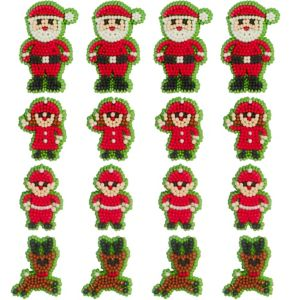 Santa & Elves Icing Decorations 12ct