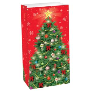 Christmas Tree Paper Favor Bag