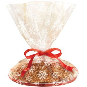 White Snowflake Tray Treat Bags 6ct