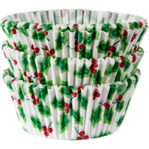 Holly Baking Cups 75ct