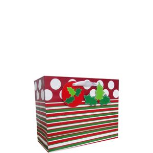 Contemporary Stripe Christmas Gift Bag